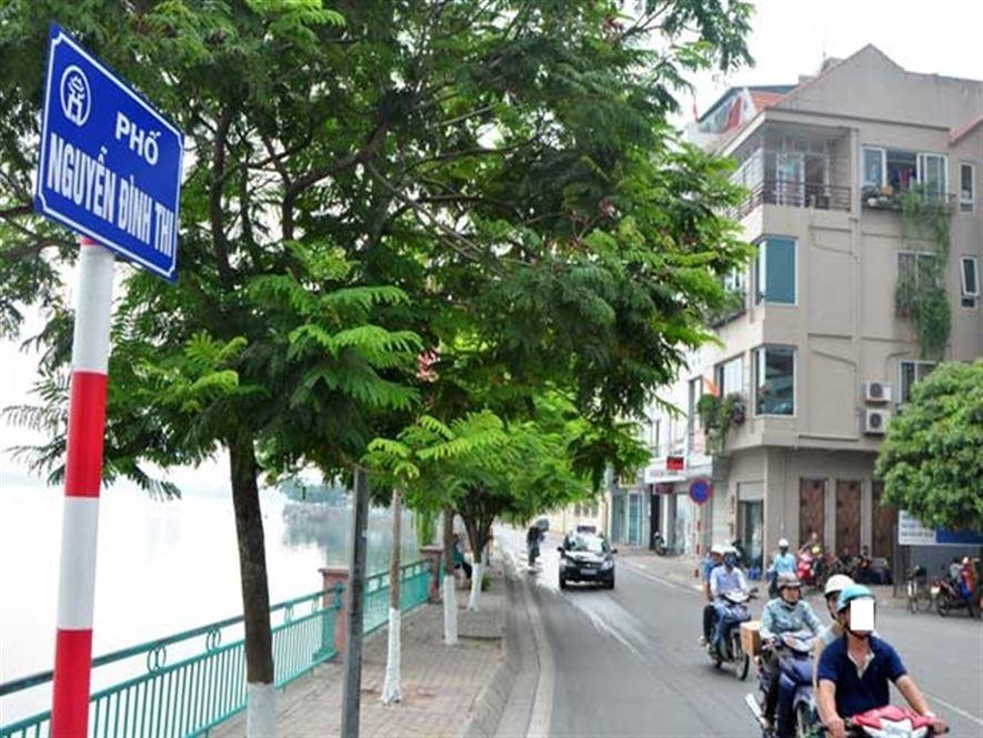 291 triệu/m2 nhà mặt phố Nguyễn Đình Thi, 1 mặt hồ Tây 1 mặt ngõ, 151m2